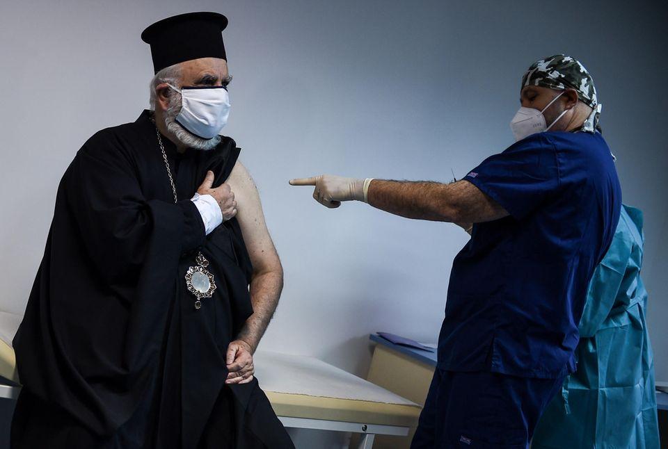 Vaksinasi kedua terhadap Corona di Sofia