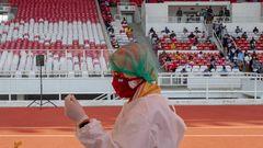 Massenimpfung im Stadion in Jakarta