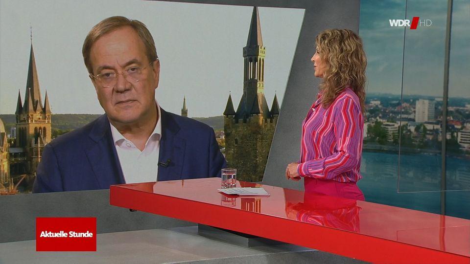 Armin Laschet und Susanne Wieseler im Gespräch