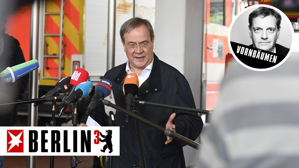BERLIN³: Die Klimakrise holt Armin Laschet im Wahlkampf ein – aber er hat den Schuss noch nicht gehört
