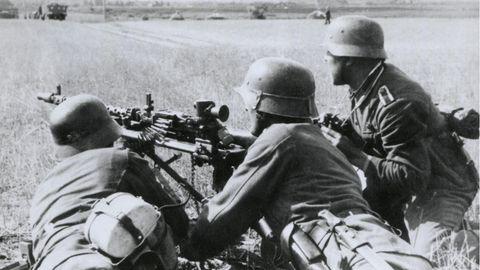 Im Sommer 1941 stießen die deutschen Truppen weit in die Sowjetunion hinein.