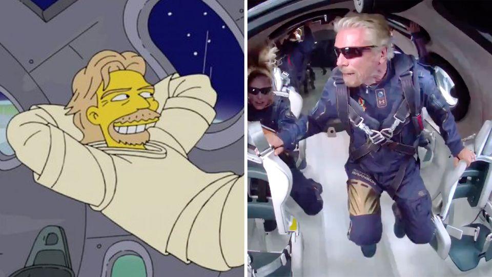 """Haben """"Die Simpsons"""" Richard Bransons Space-Trip vorhergesagt?"""