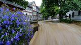 Wassermassen stürzen durch Goslar 2017