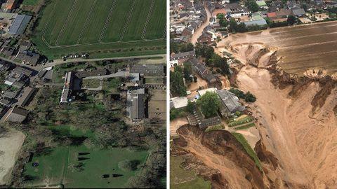 Erftstadt vor und nach der Flutkatastrophe