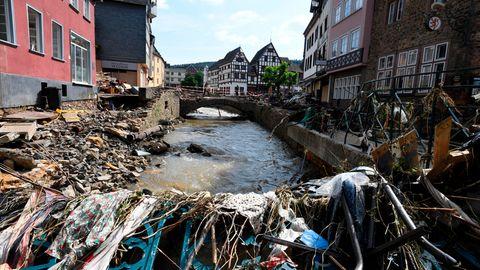 Blick in das zerstörte Bad Münstereifel