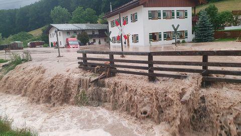 Überschwemmung Bischofswiesen