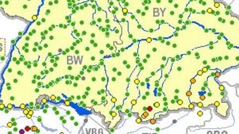 Karte Hochwasser