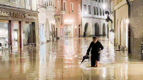 Hochwasser in Hallein