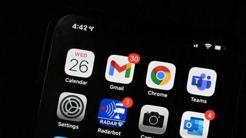 Der Startbildschirm eines iPhones