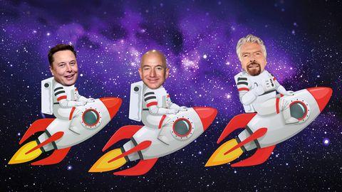 Elon Musk, Jeff Bezos und Richard Branson