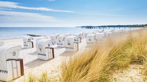 Strandkörbe auf Sylt.