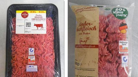 Hackfleisch der Supermarktkette Aldi Nord