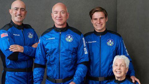 Jeff Bezos: Diese Crew begleitet den Milliardär bei seinem Weltraumflug