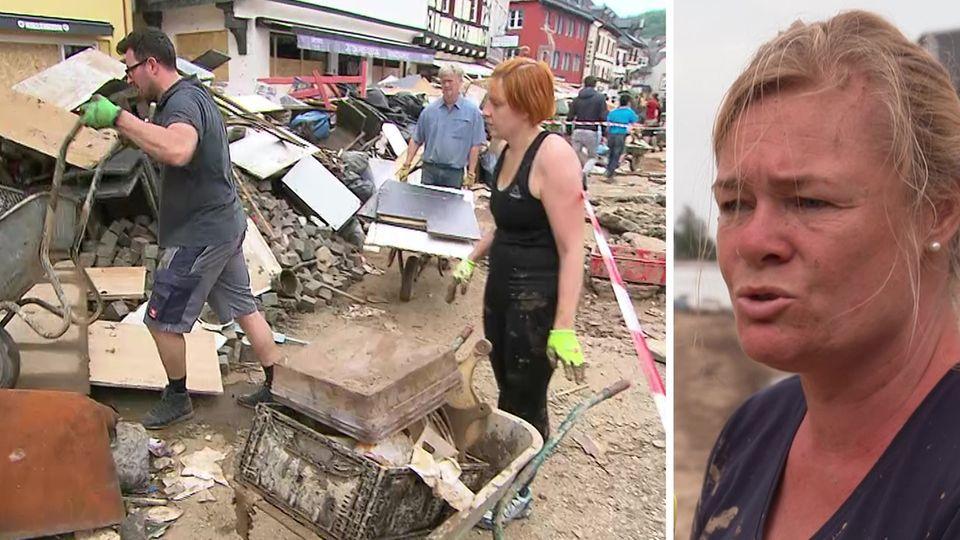 """""""Asozial"""": Hochwasser-Opfer zwischen Trümmern bestohlen"""