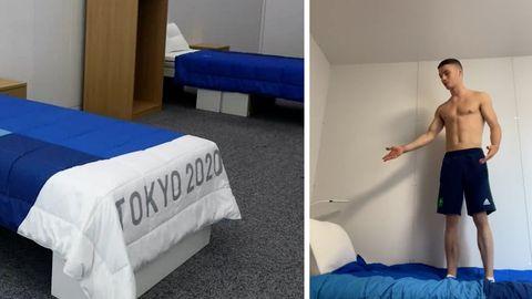 Anti-Sex-Betten im olympischen Dorf? Irischer Turner macht den Test