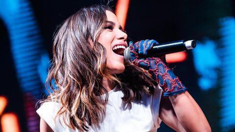 Anitta live auf der Bühne beim Festival Rock in Rio am 5. Oktober 2019