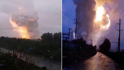 Hochwasser eingedrungen: Aluminiumhütte explodiert in riesigem Feuerball