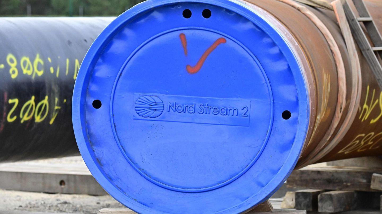 Ein Rohr für den Bau der Erdgaspipeline Nord Stream 2