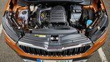 Als Motoren stehen zwei TSI-Aggregate mit 85 kW / 115 PS bis 110 kW / 150 PS (mit Zylinderabschaltung) zur Auswahl