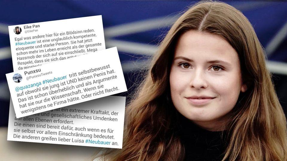 """Luisa Neubauer neben kontroversen Tweets nach TV-Auftritt bei """"Markus Lanz""""."""