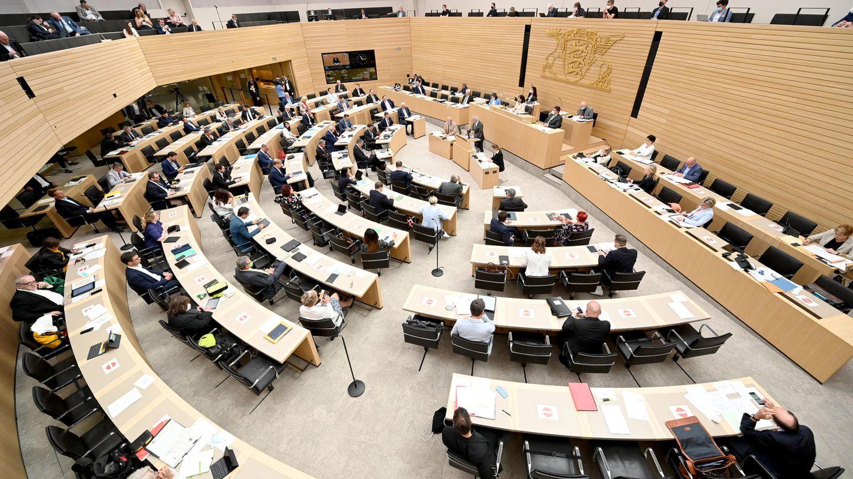 Eine Plenarsitzung im Landtag von Baden-Württemberg