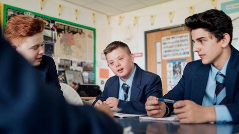Englische Schüler