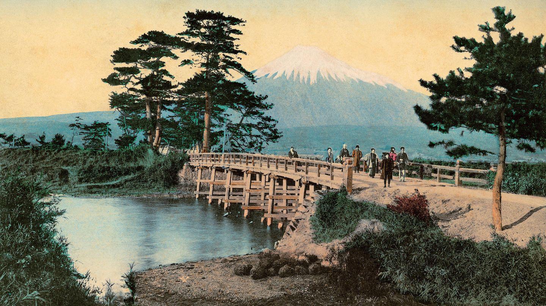 """Bild 1 von 10der Fotostrecke zum Klicken:Reise nach Fernost, zu den Wurzeln der japanischen Kultur. Der neue Bildband """"Japan 1900"""" zeigt colorierte Schwarz-Weiß-Fotografien aus der Meiji-Zeit, als sich das Land nach langer Isloationöffnete."""