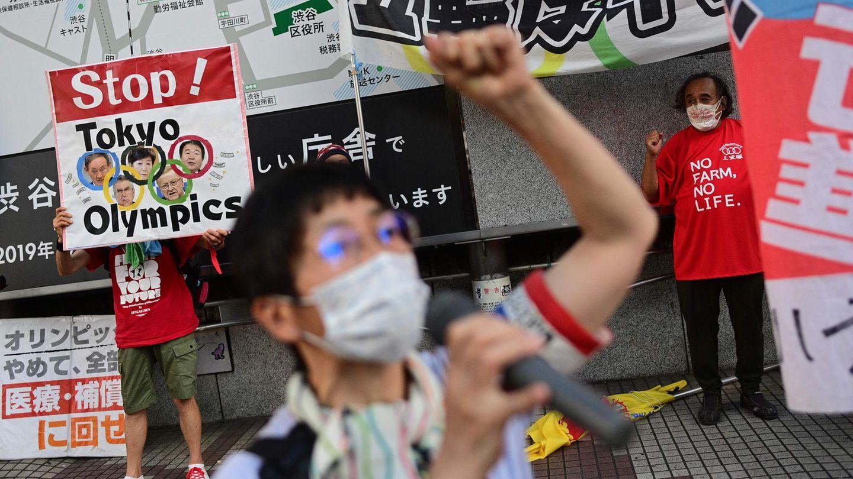 Protest gegen die Ausrichtung von Olympia in Tokio