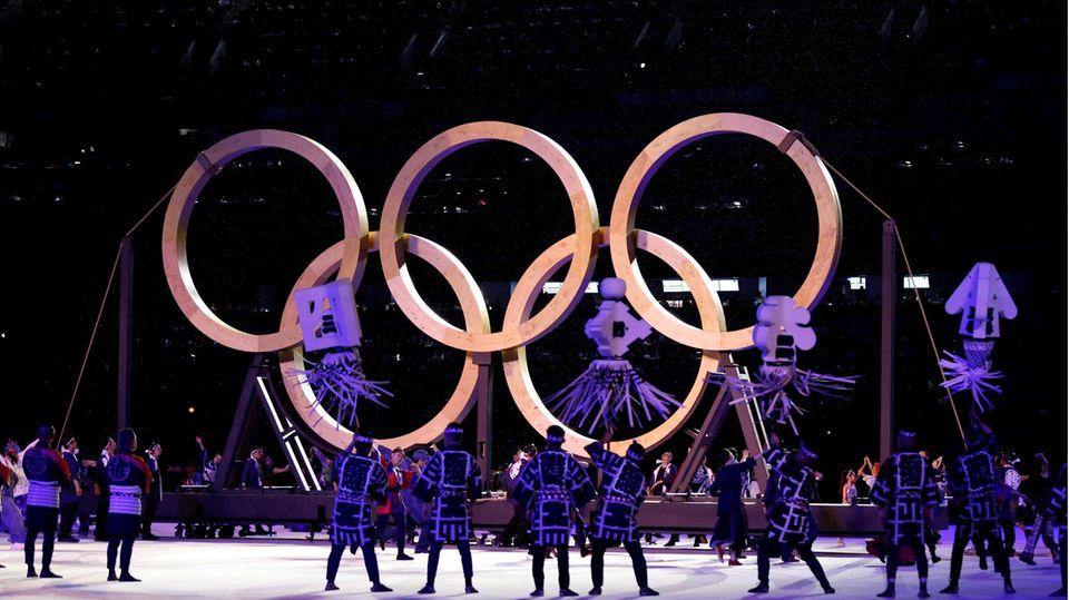 Eröffnung Olympische Holz-Ringe