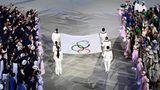 Eröffnung Olympische Fahne