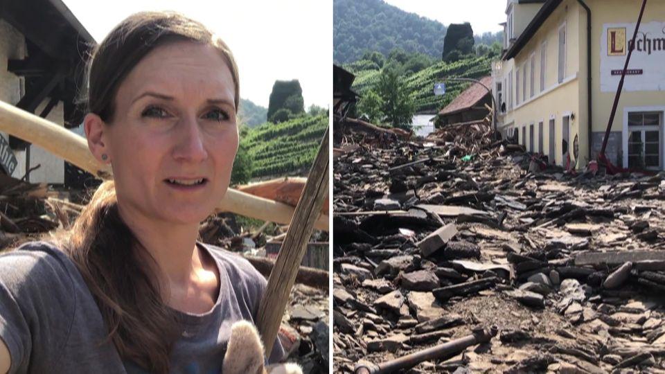 Nach dem Hochwasser: Moderatorin Fabricia Karutz besucht ihre Heimat