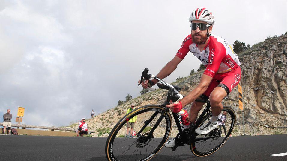Der Deutsche Radsportler Simon Geschke bei derTour de France 2021