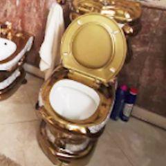 Goldene Toilette von korruptem Polizist in Russland
