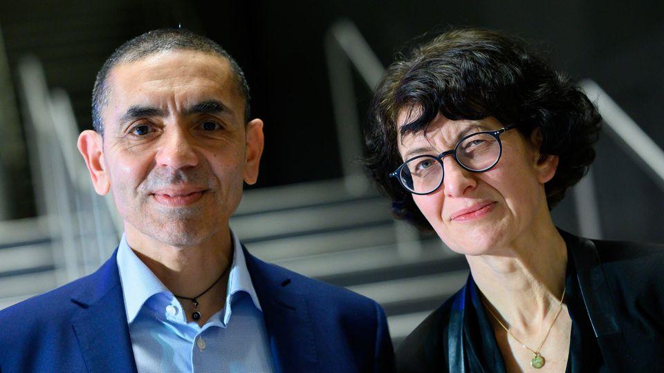 Biontech-GründerUğur Şahin und Özlem Türeci