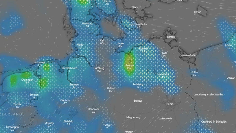 Karte Windy Starkregen