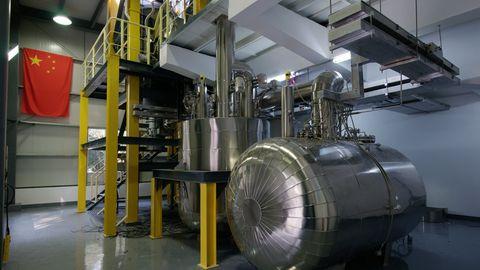 In dieser Anlage wurde der Umgang mit dem Flüssigsalz gebprobt.