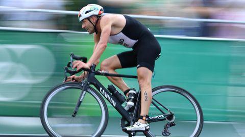Mohamad Maso beim Radfahren
