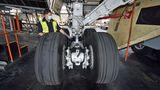 Hauptfahrwerk einer Boeing 747-8