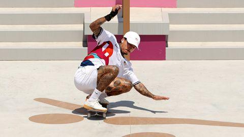 Nyjah Huston auf dem Skateboard
