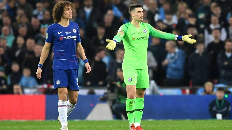 Kepa Arrizabalaga David Lui FC Chelsea 2019 Carabao Cup Finale