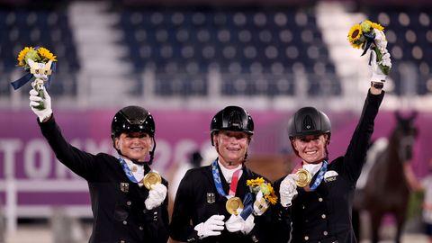 Deutsches Dressur-team gewinnt Gold bei Olympia 2021