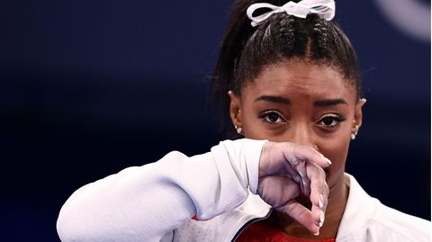 US-Turnerin Simone Biles bei den Olympischen Spielen in Tokio (Japan)