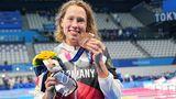 Schwimmerin Sarah Köhler,Bronzeüber 1500 Meter Freistil