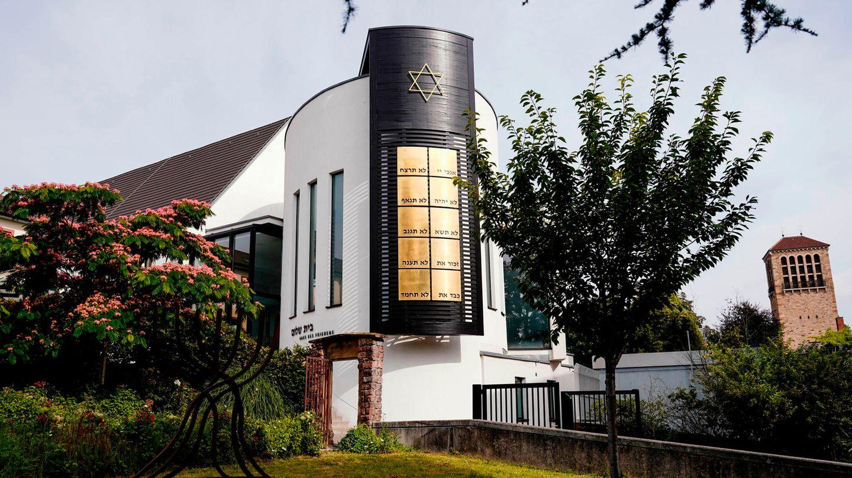 """Die Synagoge """"Beith Shalom"""" in der Innenstadt von Speyer. Die Unesco hat das jüdische Kulturgut in Mainz, Speyer und Worms als neues Welterbe ausgezeichnet."""