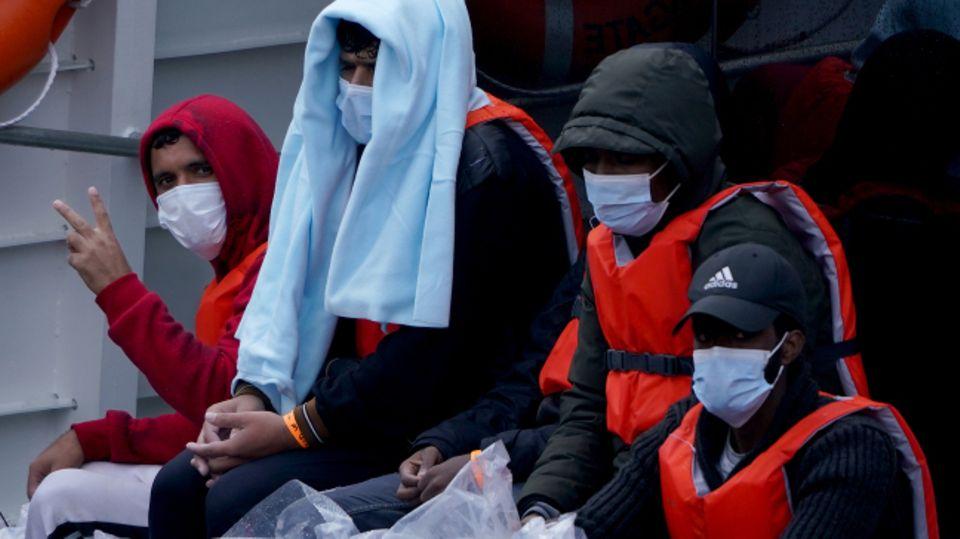 Gruppe von Migranten
