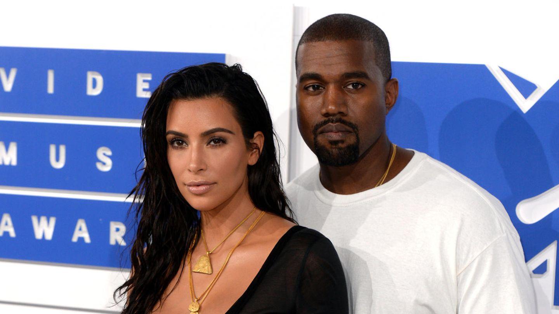 A photo from happier days: Kim Kardashian and Kanye West