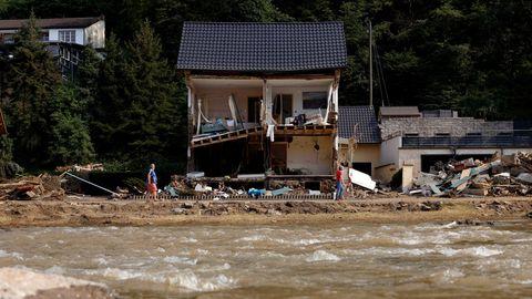 Zerstörtes Haus an der Ahr