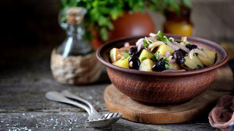 Rezept für einen griechischen Kartoffelsalat