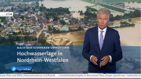 2021, Hochwasser, Deutschland  Die Flutkatastrophe hat die Diskussion über die Folgen des Klimawandels angefacht. Zum dominierenden Wahlkampfthema wurden sie bislang nicht