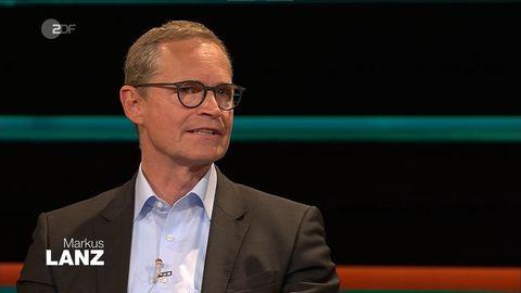 "Berlins Regierendem Bürgermeister Michael Müller (SPD) in der Talkshow ""Markus Lanz"""
